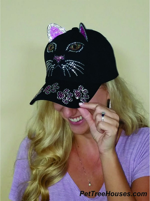Black Cat Bling Hat